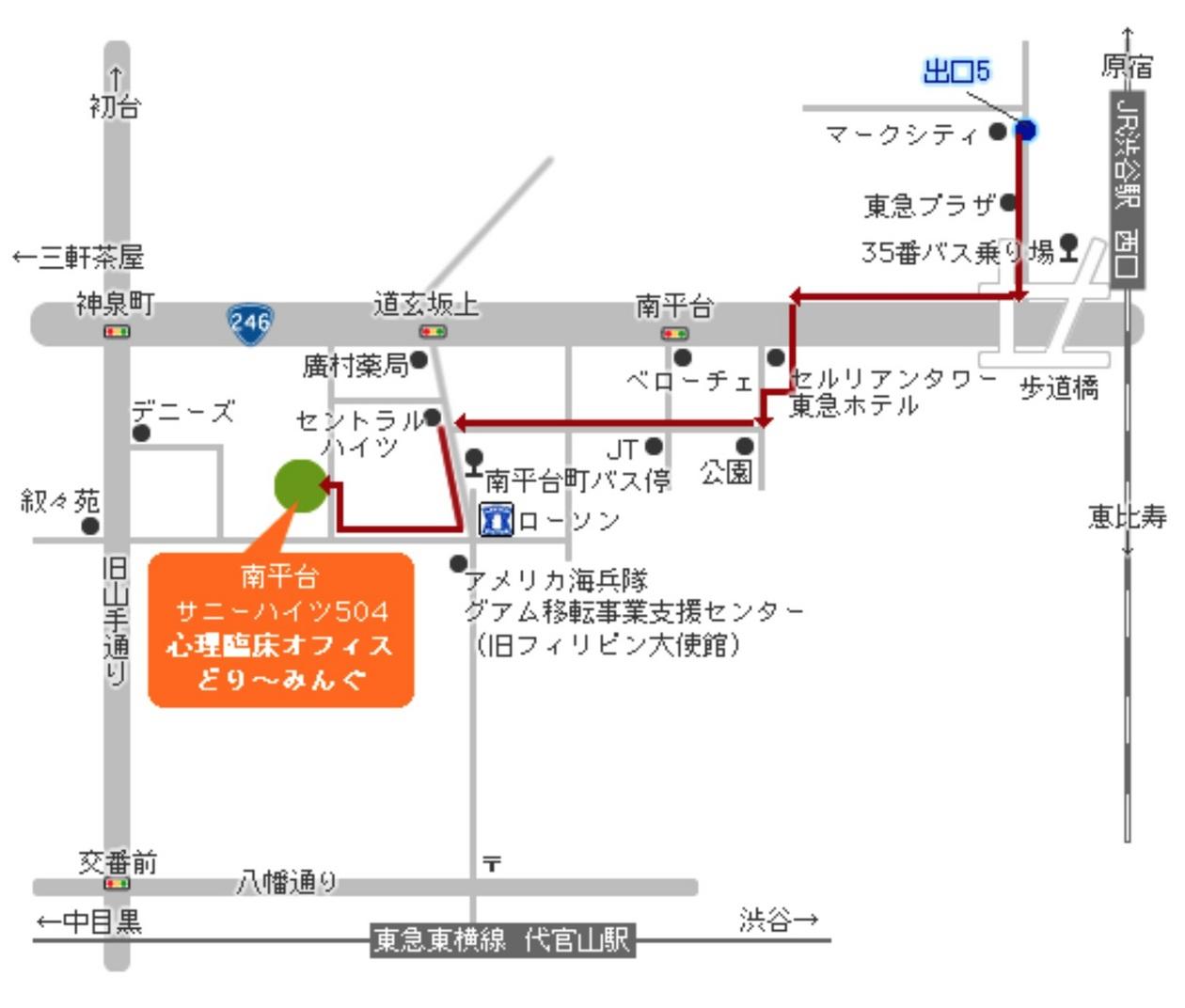 セッションルームの地図