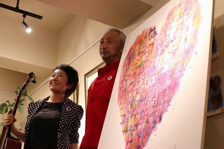 ハートの絵描き、西村公一さんとライブ共演