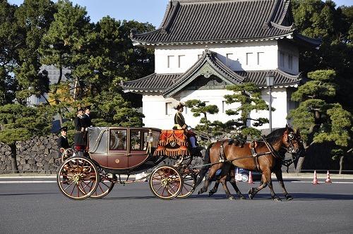 皇居の馬車