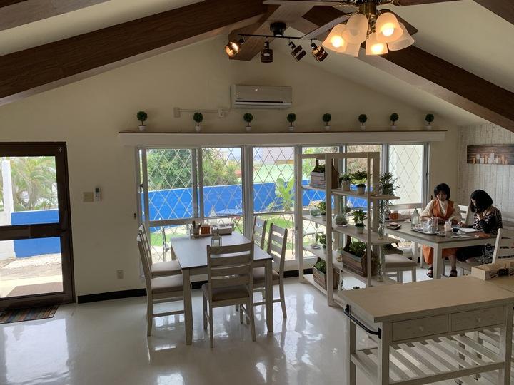 素敵なcafe沖縄物語の美味しいパスタランチ付きです。