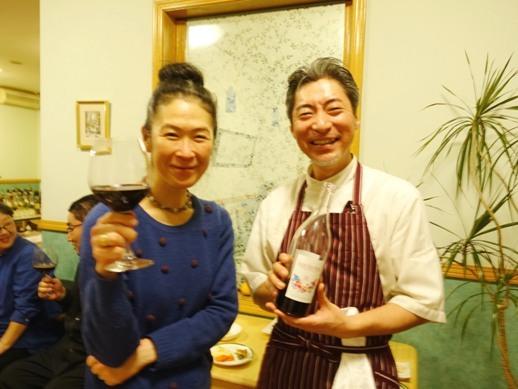 ナチュラル薬膳生活クリエイター須崎桂子とフランス料理シェフ名越和幸氏のツーショット