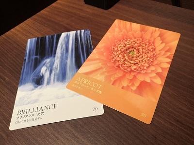 カラーカード:アプリコット&ブリリアンス